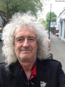 A confident Brian May off to Polling Station © brianmay.com