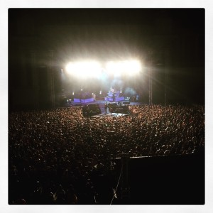 One Republic performing in Bucharest