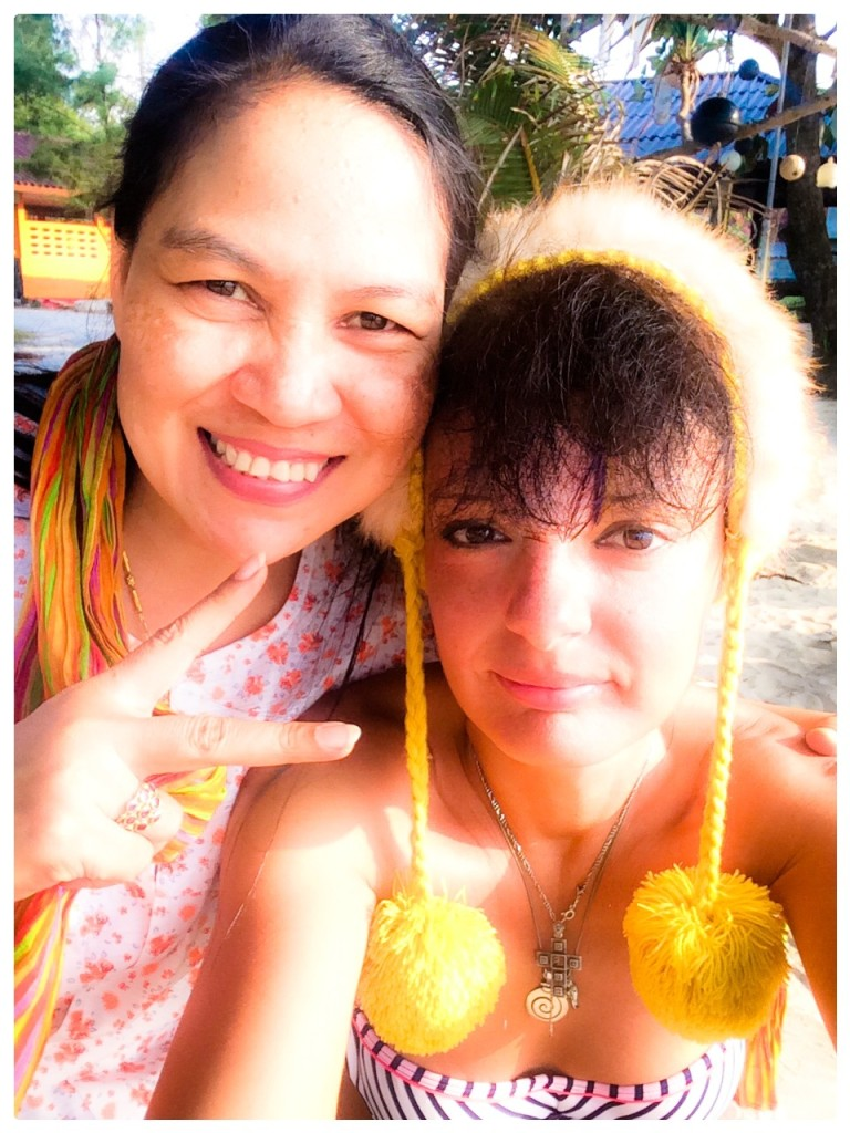 With a lovely Thai woman, in Khanom, Thailand