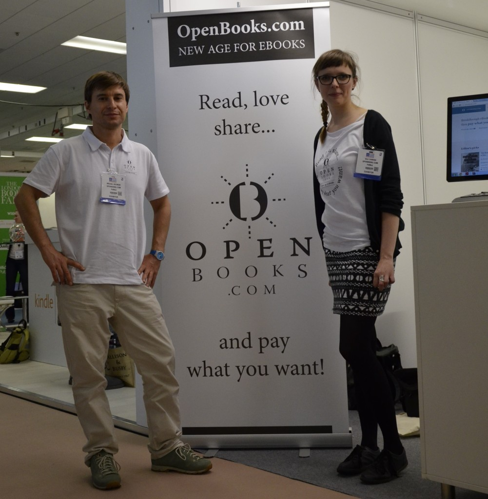 OpenBooks.com team - Ula Zarosa – Product Owner and Michal Klicinski – Founder, at The London Book Fair 2015